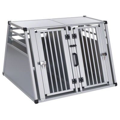 aluline double dog crate