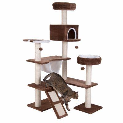 maison en pain d 39 pice avec chelle arbre chat zooplus. Black Bedroom Furniture Sets. Home Design Ideas