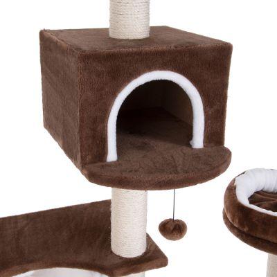 arbre chat maison en pain d 39 pice avec chelle prix avantageux chez zooplus. Black Bedroom Furniture Sets. Home Design Ideas
