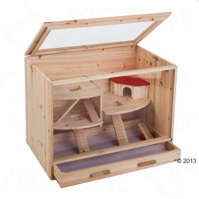 Cage en bois pour hamster, souris et rat