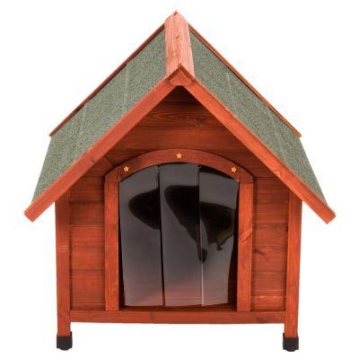 Caseta de madera spike confort con puerta para perros - Puerta vaiven para perros ...