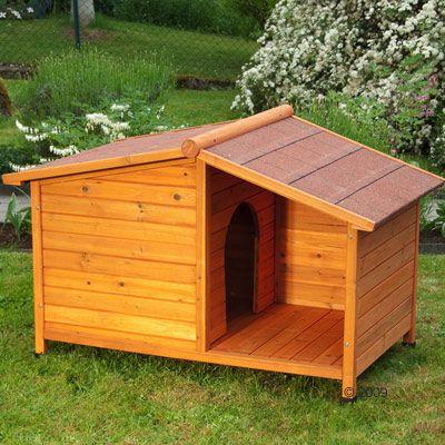 Caseta de madera spike special para perros for Caseta madera terraza