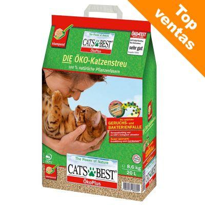 Cat's Best arena vegetal aglomerante 3 variedades en oferta de prueba