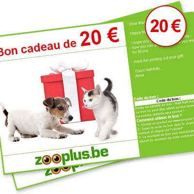 Chèque cadeau zooplus d'une valeur de 20 €