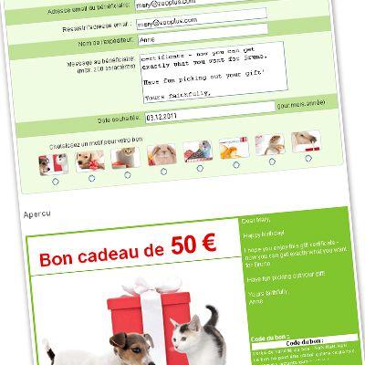Chèque cadeau zooplus d'une valeur de 50 €