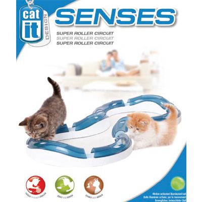 catit design senses super roller circuit de jeu pour chat zooplus. Black Bedroom Furniture Sets. Home Design Ideas