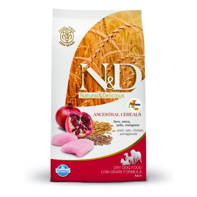 Farmina N&D Low Grain Adult Mini Pollo e Melograno