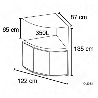 fluval aquarium eck kombination venezia 350 g nstig bei zooplus. Black Bedroom Furniture Sets. Home Design Ideas