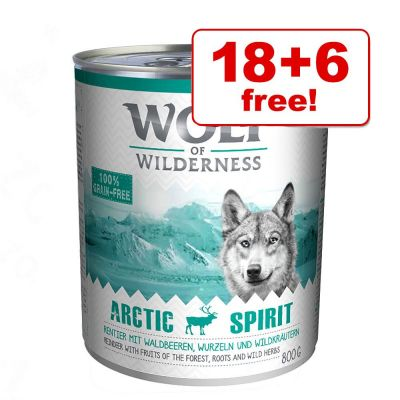 800g Wolf of Wilderness Adult Saver Pack – 18 + 6 Free!*
