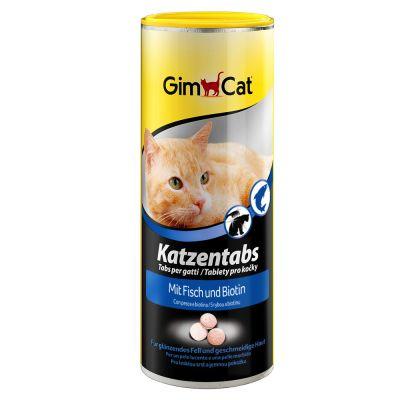 GimCat Pastilles au poisson & biotine pour chat