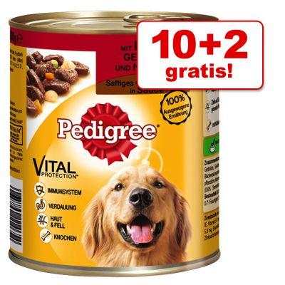 10 + 2 gratis! 12 x 800 g Pedigree Adult