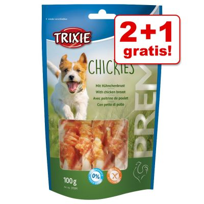 2 + 1 gratis! 3 x 100 g Trixie Chickies