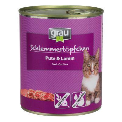 Grau menu gourmand sans céréales 6 x 800 g pour chat