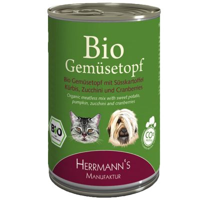 Herrmanns Bio Ergänzungsfutter Gemüsetopf 6 x 400 g