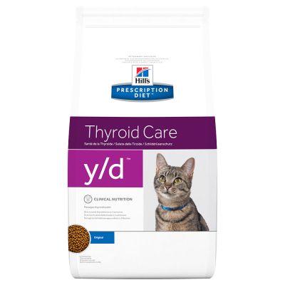 hill 39 s prescription diet y d thyroid care croquettes pour chat zooplus. Black Bedroom Furniture Sets. Home Design Ideas