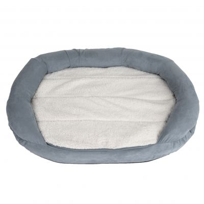 Hundebett Memory oval, grau