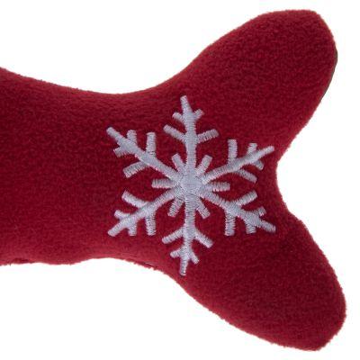 Hundespielzeug Knochen mit Squeaker Cozy Christmas