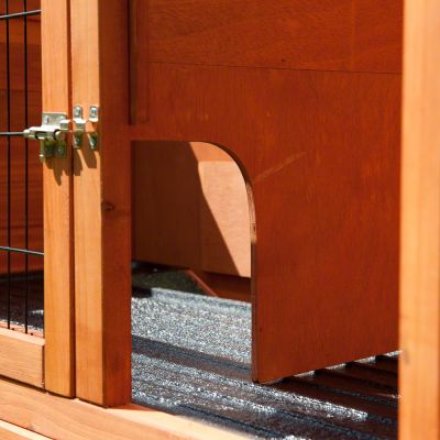 Kaninbur Outback Kompakt med løbegård - træ