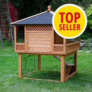 kaninchenstall outback pagode mit freigehege. Black Bedroom Furniture Sets. Home Design Ideas