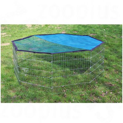 Kerbl Octagonal Run with Sun Protection - 8 Sided
