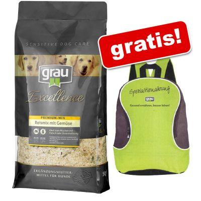 5kg Grau Trockenfutter nach Wahl + Grau Rucksack gratis