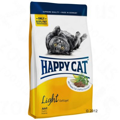 8 / 10 kg Happy Cat + 2 Stück Aumüller Katzenspielzeug Baldriankissen Baldini