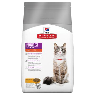 1,5 kg Hill's Feline Adult Sensitive Stomach und 400 g Concept for Life und Royal Canin