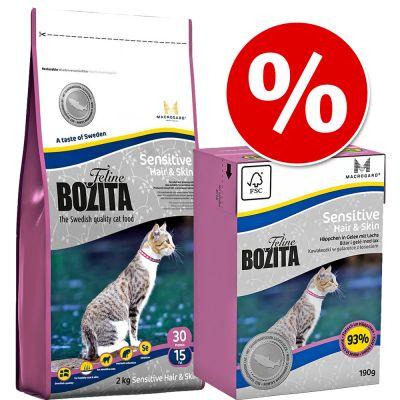 2 kg Trockenfutter + 6 x 190 g Nassfutter  Bozita Feline Mischpaket