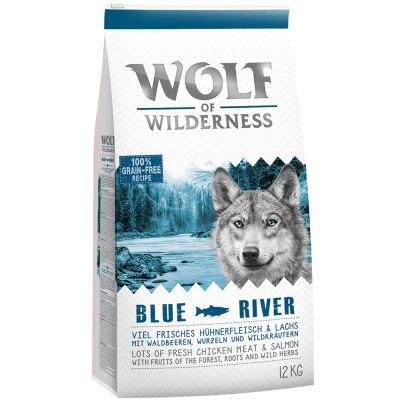 12 kg Wolf of Wilderness + 6 x 400 g cibo umido gratis!