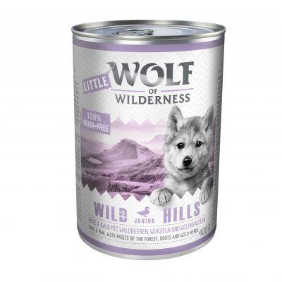 20% korting op 6 x 400 g Wolf of Wilderness Hondenvoer