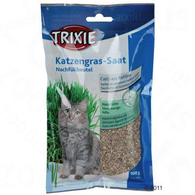 lot d'herbe à chat 3 x 100 g - zooplus