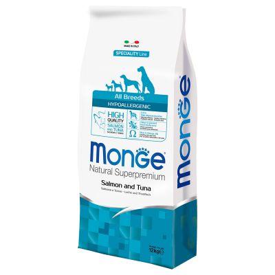 Monge Superpremium All Breeds Hypoallergenic Salmone e Tonno