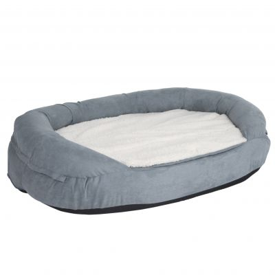 Oval Memory Foam Dog Bed Grey Free P Amp P 163 29