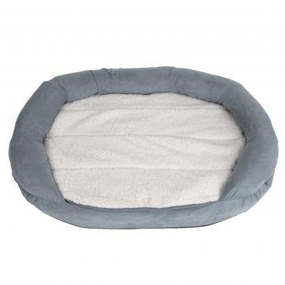 Oval Memory Foam Dog Bed Grey Free P Amp P 163 29
