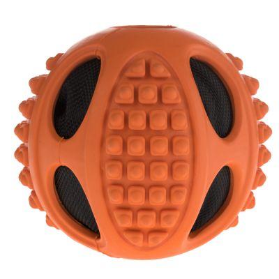 Palla gioco in gomma con pallina frusciante 2in1