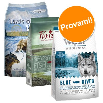 Set misto crocchette! Taste of the Wild, Wolf of Wilderness & Purizon