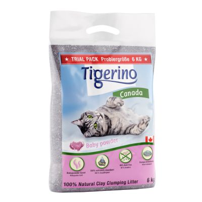 Tamaño especial: Tigerino Canada arena con olor a talco