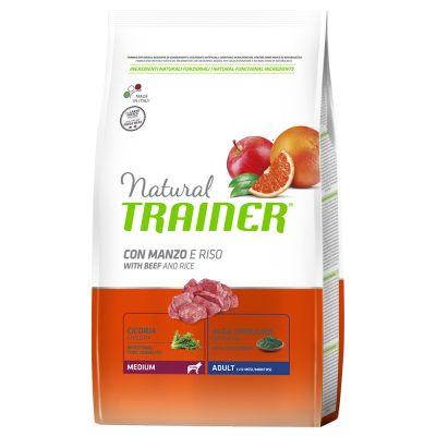 Trainer Natural Medium Adult Manzo & Riso