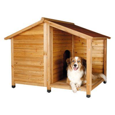 trixie hundeh tte blockhaus natura mit terrasse g nstig bei zooplus. Black Bedroom Furniture Sets. Home Design Ideas