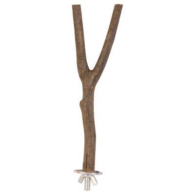 Trixie Perchoir en forme de Y en bois naturel pour oiseaux