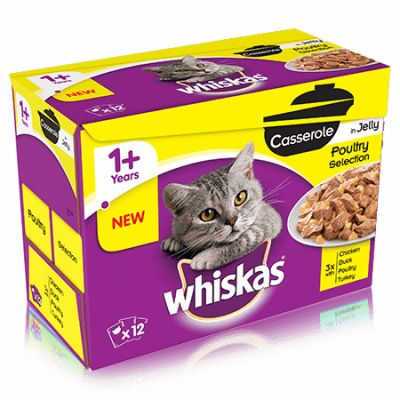 Whiskas Casserole Poultry Selection In Jelly 12 X 85g
