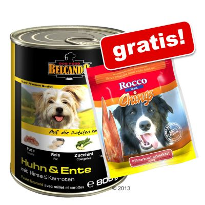 6 x 800 g Belcando Super Premium + Rocco Chings gratis!